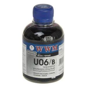 Чорнило (200г) WWM Universal Canon/HP/Lexmark/Xerox Black (U06/B)