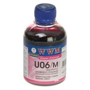 Чорнило (200г) WWM Universal Canon/HP/Lexmark/Xerox Magenta (U06/M)