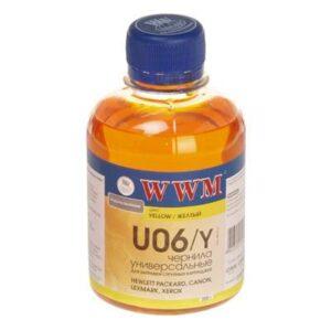 Чорнило (200г) WWM Universal Canon/HP/Lexmark/Xerox Yellow (U06/Y)