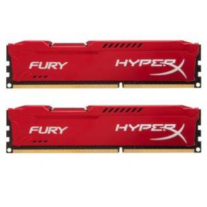 Модуль пам'яті для комп'ютера DDR3 16Gb (2x8GB) 1600 MHz HyperX Fury Red Kingston (HX316C10FRK2/16)