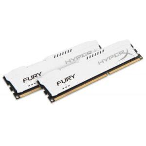 Модуль пам'яті Kingston для комп'ютера DDR3 16Gb (2x8GB) 1600 MHz HyperX Fury White (HX316C10FWK2/16)