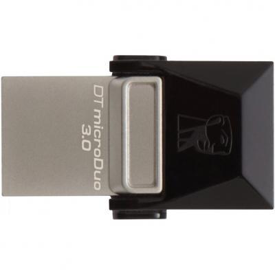 USB флеш накопичувач Kingston 64GB DT microDuo USB 3.0 (DTDUO3/64GB) флешка 64гб : матеріал корпусу - пластик, поворотний ковпачок