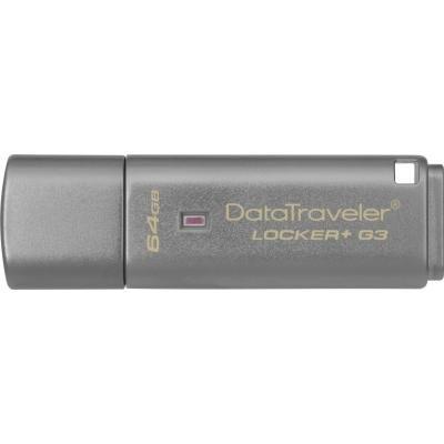 USB флеш накопичувач Kingston 64Gb DataTraveler Locker+ G3 USB 3.0 (DTLPG3/64GB)