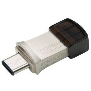 USB флеш накопичувач Transcend 32GB JetFlash 890S Silver USB 3.1 (TS32GJF890S)