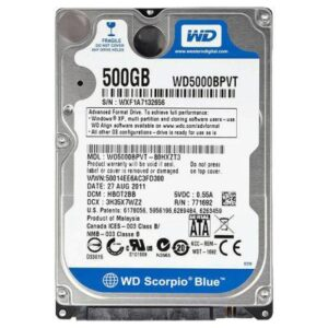 Жорсткий диск для ноутбука 2.5″ 500GB Western Digital (#WD5000BPVX#)