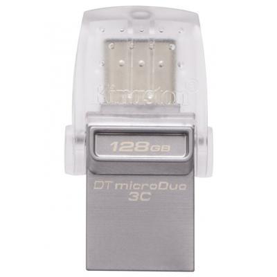 USB флеш накопичувач Kingston 128GB DataTraveler microDuo 3C USB 3.0/Type C (DTDUO3C/128GB)