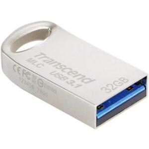 USB флеш накопичувач Transcend 32GB JetFlash 720 Silver Plating USB 3.1 (TS32GJF720S)