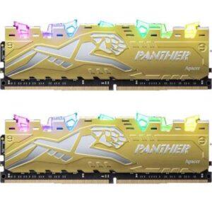 Модуль пам'яті для комп'ютера DDR4 16GB (2x8GB) 3200 MHz Panther Rage RGB Silver-Golden Apacer (EK.16G21.GJMK2)