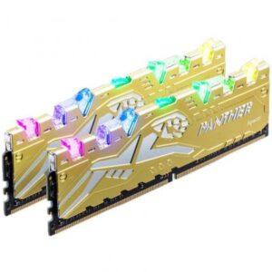 Модуль пам'яті для комп'ютера DDR4 16GB (2x8GB) 3000 MHz Panther Rage RGB Silver-Golden Apacer (EK.16G2Z.GJMK2)