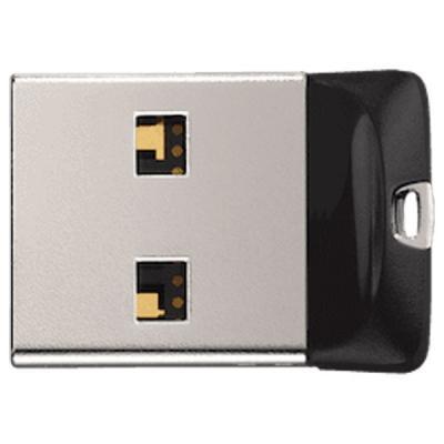 USB флеш накопичувач SANDISK 32GB Cruzer Fit USB 2.0 (SDCZ33-032G-G35) флешка 32гб : матеріал корпусу - пластик, Колір - чорний