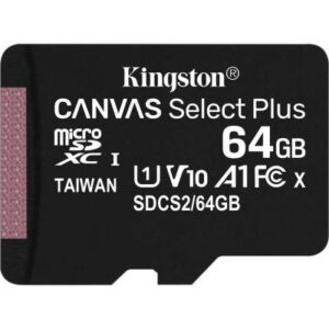 Карта пам'яті Kingston 64GB micSDXC class 10 A1 Canvas Select Plus (SDCS2/64GB)