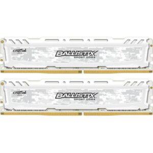 Модуль пам'яті для комп'ютера DDR4 16GB (2x8GB) 3200 MHz Ballistix Sport LT White MICRON (BLS2K8G4D32AESCK)