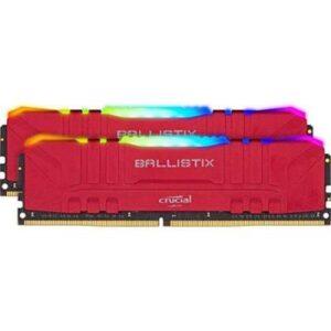 Модуль пам'яті для комп'ютера DDR4 16GB (2x8GB) 3000 MHz Ballistix RGB Red MICRON (BL2K8G30C15U4RL)