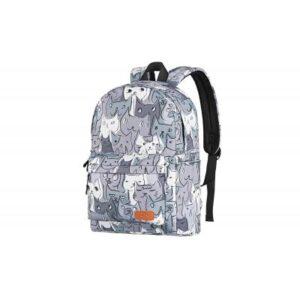 Рюкзак для ноутбука 2E TeensPack Cats, grey (2E-BPT6114GC)