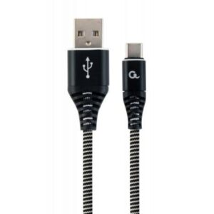 Дата кабель USB 2.0 AM to Type-C 2.0m Cablexpert (CC-USB2B-AMCM-2M-BW)