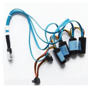 Кабель для передачі даних MiniSAS (SFF-8087) to 4xSATA (SFF-8484) 0.6m with Power Dell (470-12373)