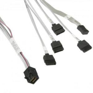 Кабель для передачі даних MiniSAS HD (SFF-8643) to 4xSATA 0.9m w/Sideband Supermicro (CBL-SAST-0556)