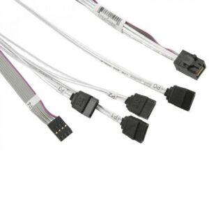 Кабель для передачі даних MiniSAS HD (SFF-8643) to 4xSATA 0.75m w/Sideband Supermicro (CBL-SAST-0591)