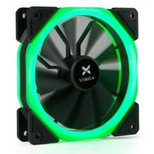 Кулер до корпусу Vinga LED fan-02 green