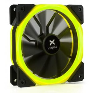 Кулер до корпусу Vinga LED fan-02 yellow