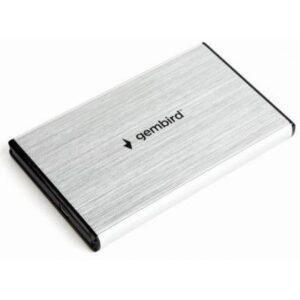 Кишеня зовнішня GEMBIRD 2.5″ USB3.0 silver (EE2-U3S-3-S)