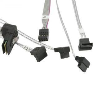 Кабель для передачі даних MiniSAS (SFF-8087) to 4xSATA 0.9m w/Sideband Supermicro (CBL-SAST-0644)