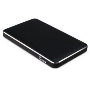 Кишеня зовнішня Argus 2.5′ SATA III, max 4TB ,USB Type C, Al, black (GD-25609-BK)