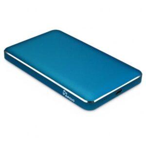Кишеня зовнішня Argus 2.5′ SATA III, max 4TB ,USB Type C, Al, blue (GD-25609-BL)