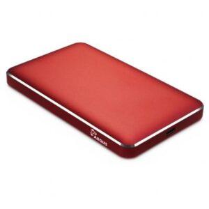 Кишеня зовнішня Argus 2.5′ SATA III, max 4TB ,USB Type C, Al, red (GD-25609-RED)