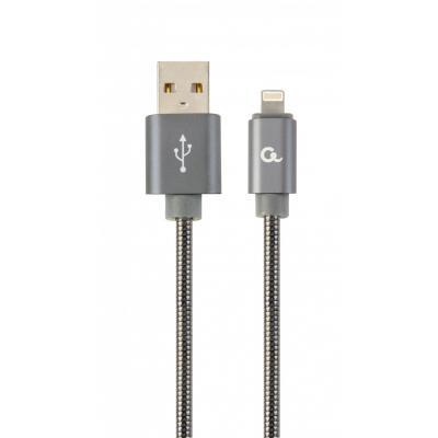 Дата кабель USB 2.0 AM to Lightning 1.0m Cablexpert (CC-USB2S-AMLM-1M-BG)