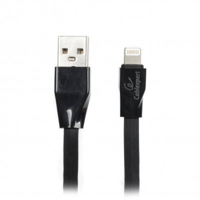 Дата кабель USB 2.0 AM to Lightning 1.0m flat Cablexpert (CCPB-L-USB-01BK)