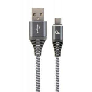 Дата кабель USB 2.0 AM to Type-C 2.0m Cablexpert (CC-USB2B-AMCM-2M-WB2)