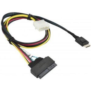 Кабель для передачі даних OCuLink SFF-8611 to U.2 SFF-8639 with Power Cable 55cm Supermicro (CBL-SAST-0956)