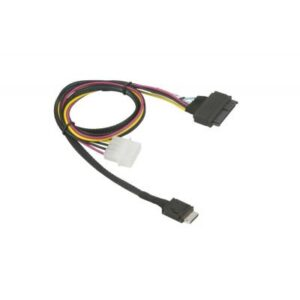 Кабель для передачі даних Supermicro OCuLink SFF-8611 (x4) to SFF-8639 U.2 with 4 Pin Power Cable (CBL-SAST-1011)