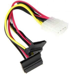 Кабель для передачі даних Supermicro 4-Pin Peripheral Connector to 2 Right Angle SATA Power (CBL-0082L)