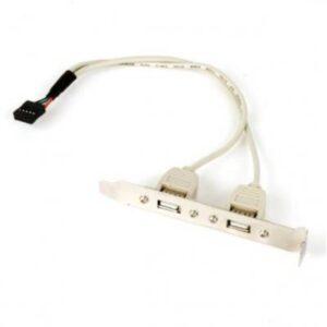 Кабель для передачі даних USB розетка на кронштейні 10P 25 см GEMBIRD (CCUSBRECEPTACLE)