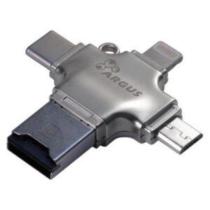 Зчитувач флеш-карт Argus USB2.0/USB Type C/ Micro-USB/Lightning, TF (R-010)