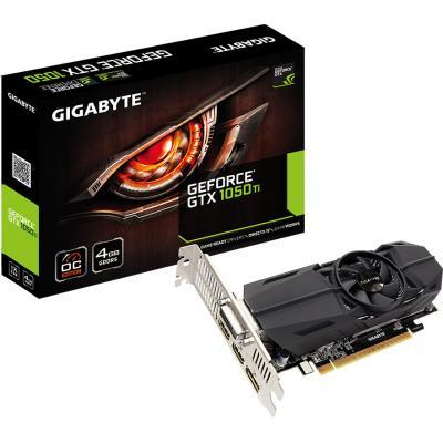 Відеокарта GIGABYTE GeForce GTX1050 Ti 4096Mb OC Low Profile (GV-N105TOC-4GL)