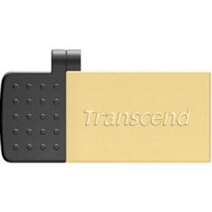 USB флеш накопичувач Transcend 32GB On-The-Go Gold USB 2.0 (TS32GJF380G)