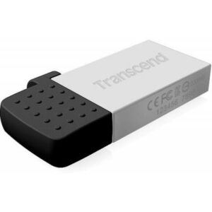 USB флеш накопичувач Transcend 32Gb On-The-Go Silver USB 2.0 (TS32GJF380S)