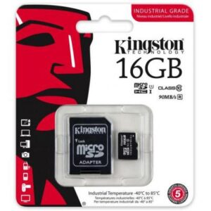 Карта пам'яті Kingston 16GB microSD class 10 UHS-I Industrial (SDCIT/16GB)