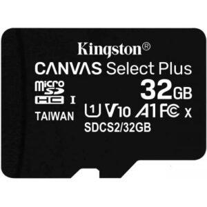 Карта пам'яті Kingston 32GB microSDHC class 10 UHS-I A1 (R-100MB/s) Canvas (SDCS2/32GBSP)