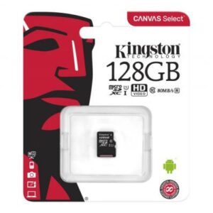 Карта пам'яті Kingston 128GB microSDXC Class 10 Canvas Select Plus 100R A1 (SDCS2/128GBSP)