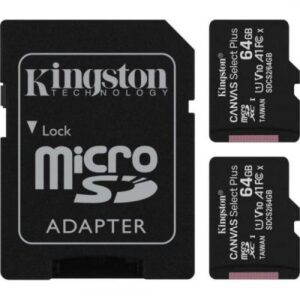 Карта пам'яті Kingston 64GB Class 10 Canvas Select Plus 100R A1 (SDCS2/64GB-2P1A)