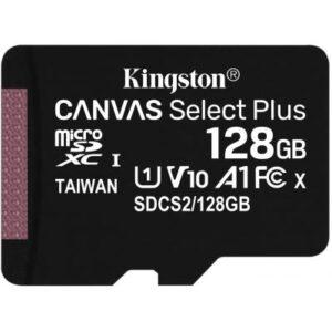 Карта пам'яті Kingston 128GB micSDXC class 10 A1 Canvas Select Plus (SDCS2/128GB)