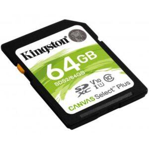 Карта пам'яті Kingston 64GB SDXC class 10 UHS-I U3 Canvas Select Plus (SDS2/64GB)