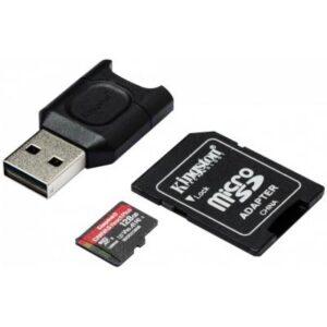 Карта пам'яті Kingston 128GB microSDXC class 10 Canvas React+ (MLPMR2/128GB)