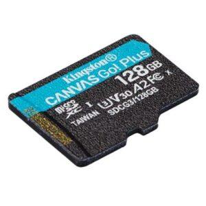 Карта пам'яті Kingston 128GB microSD class 10 UHS-I U3 A2 Canvas Go Plus (SDCG3/128GBSP)