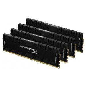 Модуль пам'яті для комп'ютера DDR4 128GB (4x32GB) 3600 MHz HyperX Predator Black Kingston (HX436C18PB3K4/128)