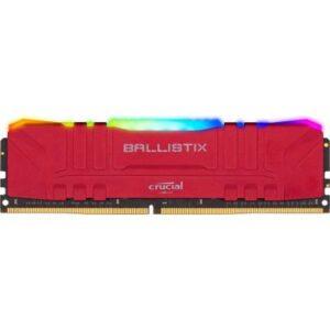 Модуль пам'яті для комп'ютера DDR4 16GB 3200 MHz Ballistix Red RGB MICRON (BL16G32C16U4RL)